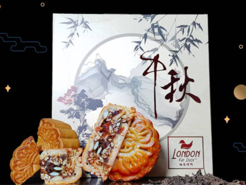 Duck Bak Kwa With Mixed Nuts Mooncake from London Fat Duck. Delivering islandwide in Singapore powered by Oddle.