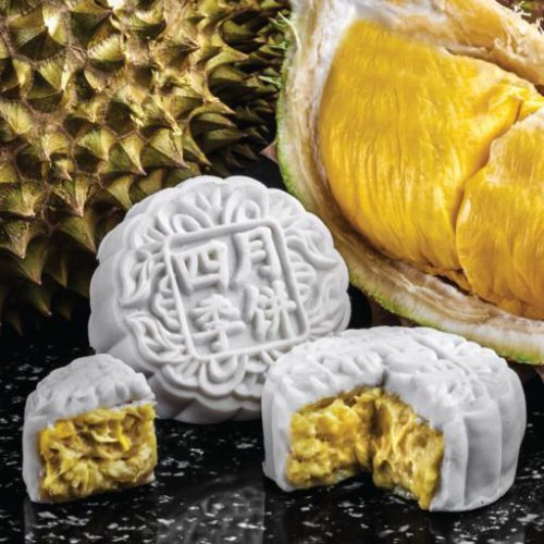 Mao Shan Wang Durian Mooncakes from Four Seasons Restaurant. Delivering islandwide in Singapore powered by Oddle.