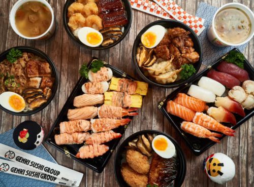 Genki Sushi, delivering islandwide in Singapore powered by Oddle. What to eat in Punggol.