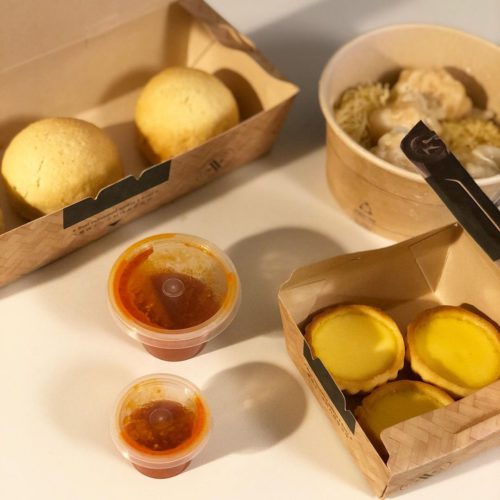 Tim Ho Wan's Baked BBQ Pork Buns and Hong Kong Style Egg Tarts, delivered islandwide in Singapore powered by Oddle.