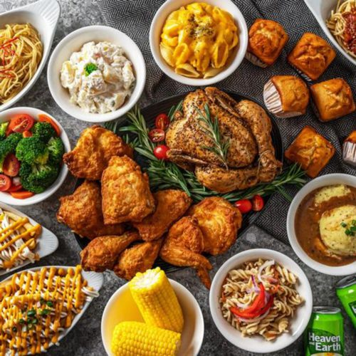 Jumbo Platter by Kenny Rogers Roasters, delivered islandwide in Singapore powered by Oddle. For Hari Raya Haji food delivery 2021 and halal food delivery.