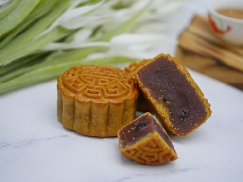 Blueberry Lotus Paste Mooncake by Joy Luck, delivered islandwide in Singapore, powered by Oddle Eats.