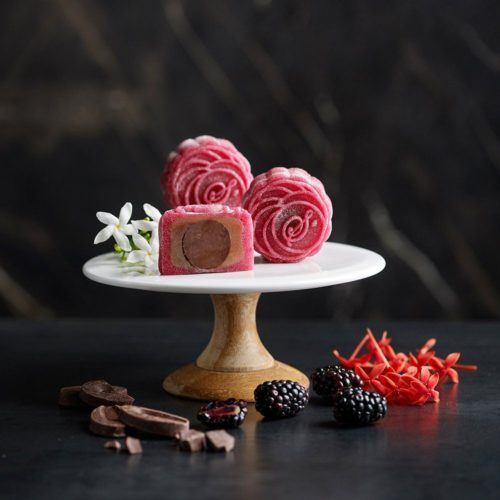Blackberry Bergamont Valrhona Dark Chocolate Truffle by Simple Indulgence Patisserie delivered islandwide in Singapore, powered by Oddle.